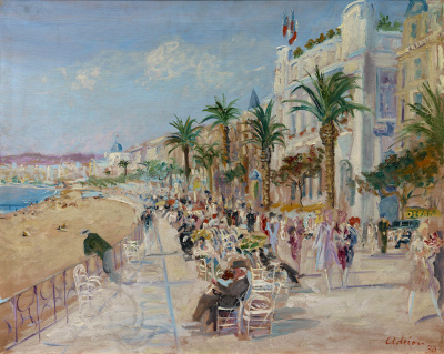 Boulevard in Nice, 1930 - Lucien Adrion
