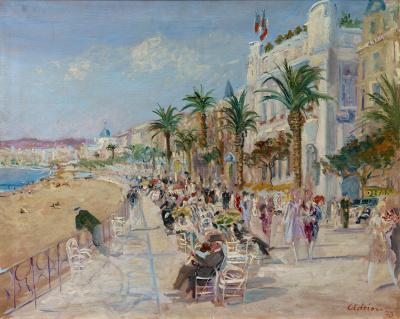 La Croisette à Cannes 1930 - Lucien Adrion