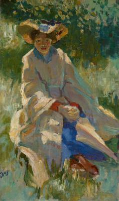 Portret van Bertha Langerhorst, 1903 - Jan Sluijters