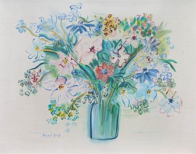 Bouquet d'anemones roses - Raoul Dufy