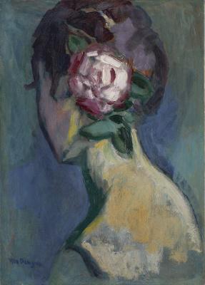 Kees van Dongen - Femme à la rose, ca. 1935