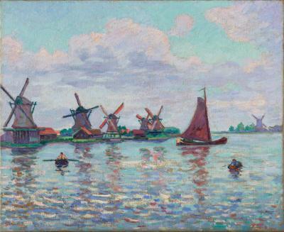 Armin Guillaumin, Molens in de Zaanstreek, ca. 1904