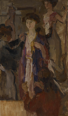 Isaac Israels, Essayeuses chez Paquin, 1905