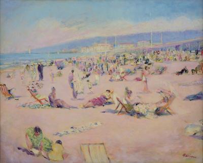 La plage de Deauville - Lucien Adrion