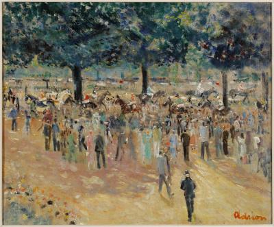 Lucien Adrion - Renbaan in Auteuil