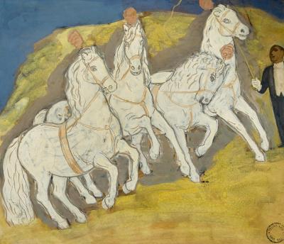 Paarden in het circus - Leo Gestel